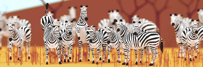 Lowpoly Zebras